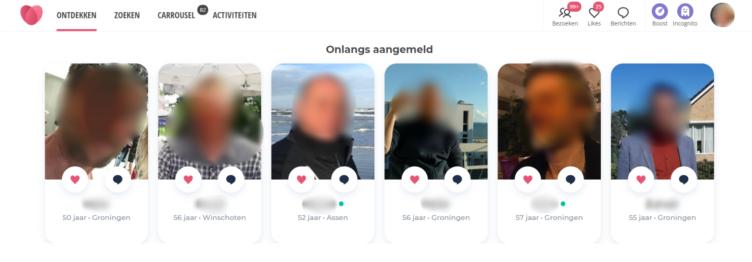 mensen ontdekken pagina ourtime datingsite